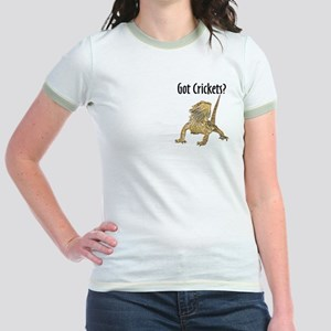 Bearded Dragon Got Crickets Jr. Ringer T-Shirt