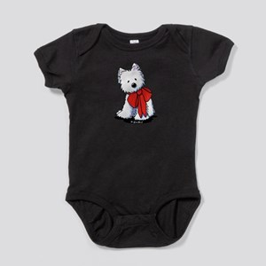 Red Ribbon Westie Infant Bodysuit