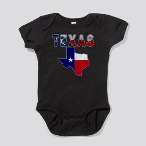 Flag Map With Texas Infant Bodysuit