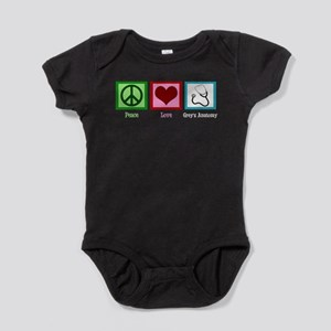 Peace Love Grey's Anatomy Baby Bodysuit
