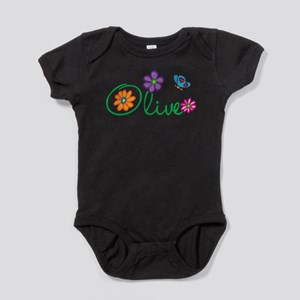 Olive Flowers Infant Bodysuit