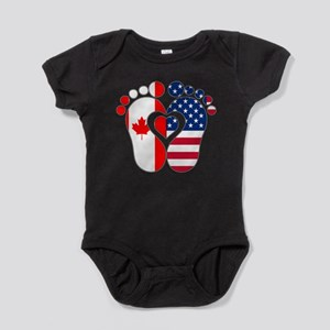 Canadian American Baby Body Suit