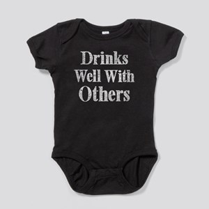 Vintage Drinks Well With Others Baby Bodysuit
