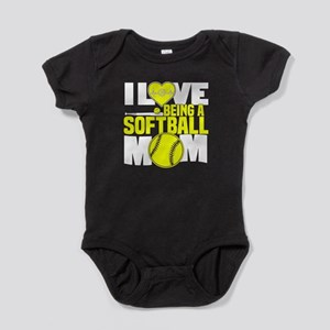I Love Being A Softball Mom T Shirt Body Suit