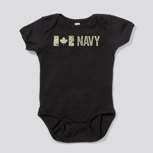 Canadian Flag: Navy Baby Bodysuit