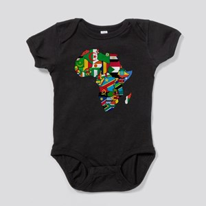 Flag Map of Africa Baby Bodysuit