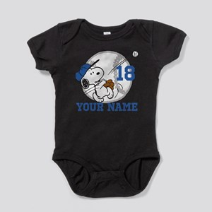 Snoopy Baseball - Personalized Infant Bodysuit