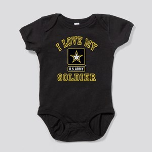 I Love My US Army Soldier Baby Bodysuit