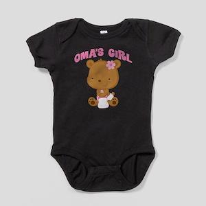 Oma's Girl Teddy Bear Baby Bodysuit