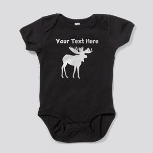 Custom Moose Silhouette Baby Bodysuit