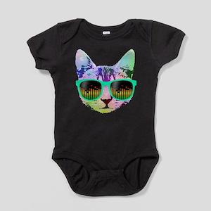 Rainbow Music Cat Baby Bodysuit