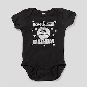 Baseball Birthday Personalized Baby Bodysuit