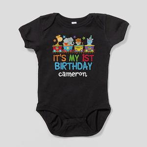Circus Animal 1st Birthday Baby Bodysuit