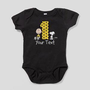 Charlie Brown Snoopy 1-Year-Old Birt Baby Bodysuit