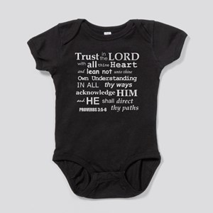 Proverbs 3:5-6 KJV White Print Baby Bodysuit