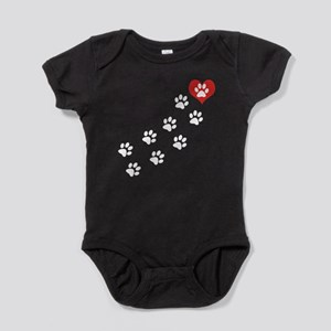 Paw Prints To My Heart Baby Bodysuit