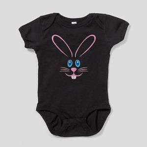 Pink Bunny Face Baby Bodysuit