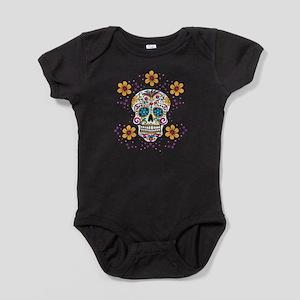 Sugar Skull WHITE Baby Bodysuit
