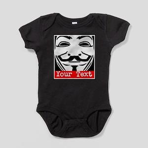 Custom Guy Fawkes Baby Bodysuit