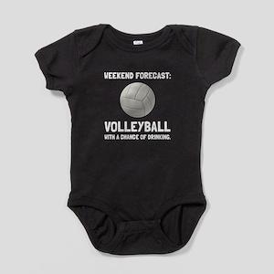 Weekend Forecast Volleyball Baby Bodysuit