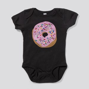 Pink Donut with Sprinkles Baby Bodysuit