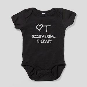 OT-HEART-onblack3 Baby Bodysuit