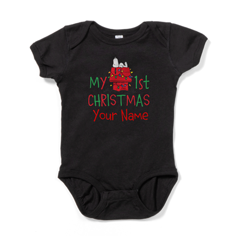 Peanuts First Christmas Baby Bodysuit