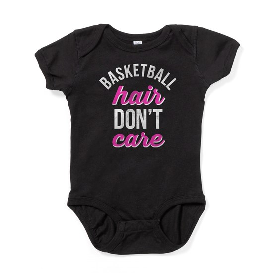 Funny Basketball Names: Funny Basketball Hair Don't Care Gift T Baby Bodysuit