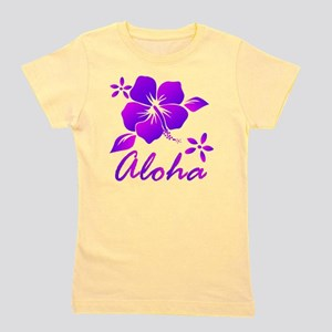 Aloha Purple Girl's Tee