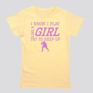 Hockey Like A Girl Girl's Tee
