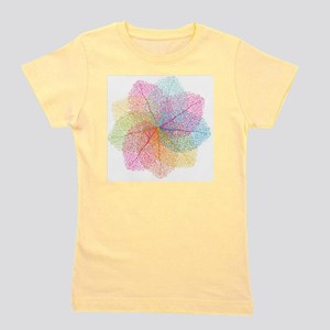 Abstract summer leaves Girl's Tee