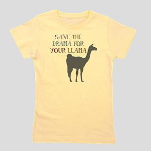 e3e17550 Save The Drama For Your Llama Kids T-Shirts - CafePress