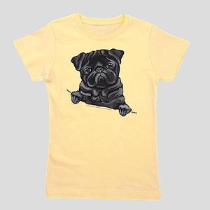 Black Pug Line Ar T-Shirt