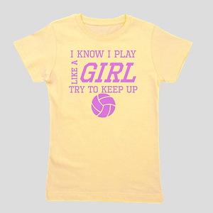 Volleyball Like A Girl Girl's Tee