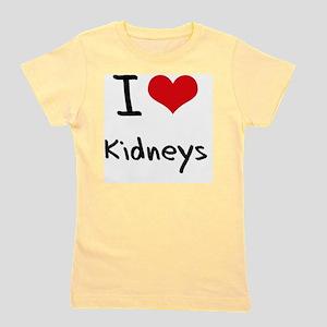I Love Kidneys Girl's Tee