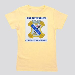 1-8 in Rgt With Text Girl's Tee