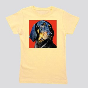 Black and Tan Coonhound Girl's Tee