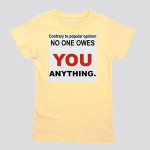 CONTRARY TO POPULAR OPINION Girl's Tee
