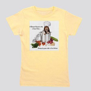 Basset Hound Sous Chef Girl's Tee