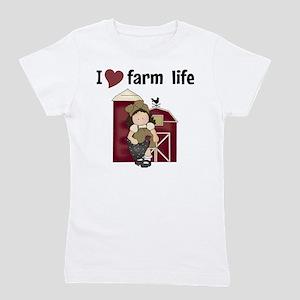 a1708afa0c I Love Farm Life Girl's Tee