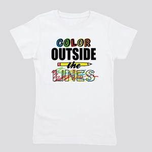 Color Outside The Lines Girl's Tee