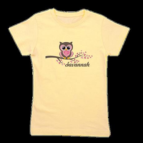 Custom Valentines Day owl Girl's Tee