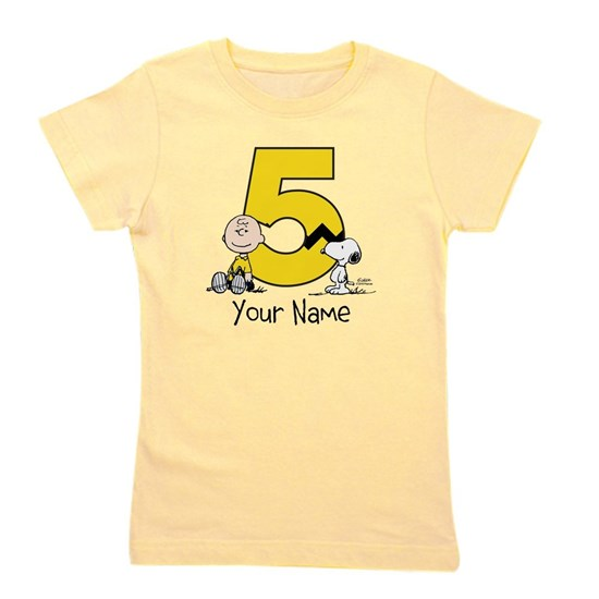 Peanuts Personalized 5th Birthday