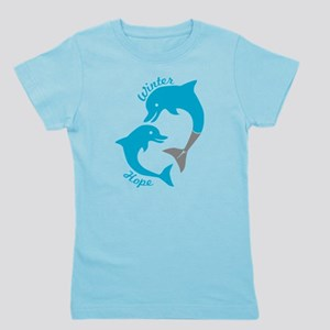 Winter And Hope Dolphin Tale 2 Girl's Tee