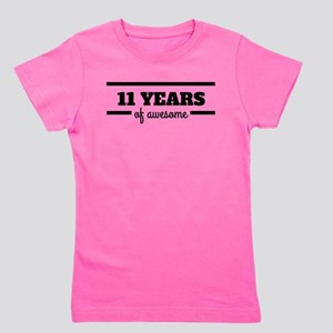 11 Years Of Awesome Girl's Tee