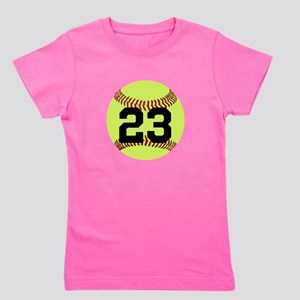 Softball Number Personalized Girl's Tee