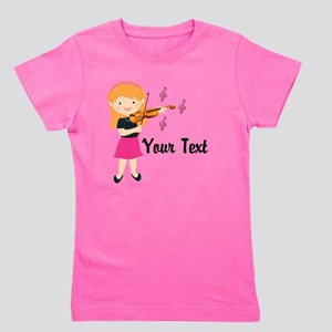 Personalized Violin Music Girl Girl's Tee