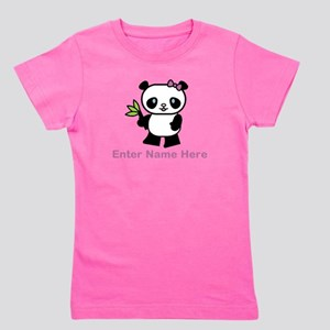 Personalized Panda Girl's Tee