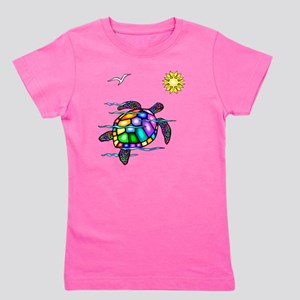 Sea Turtle 1 - with waves Girl's Tee