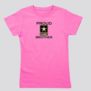 Proud Army Brother Girl's Tee